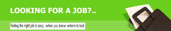 finding the right job is easy when you know where to look